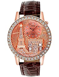 TOREK Red Dial Analog Watch For Women's-TO-667