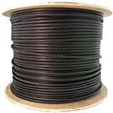 CERTICABLE 100' FT CAT-5E OUTDOOR GEL FILLED NETWORK WIRE WATERPROOF CABLE CAT5 RJ45 CONNECTORS AND RUBBER BOOTS