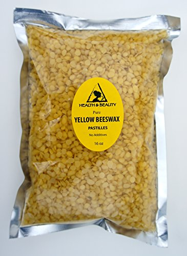 Yellow Beeswax Bees Wax Organic Pastilles Beards Premium Prime Grade A 100% Pure 16 oz