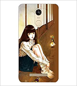 PrintDhaba Fantasy Girl D-6037 Back Case Cover for XIAOMI REDMI NOTE 3 (Multi-Coloured)