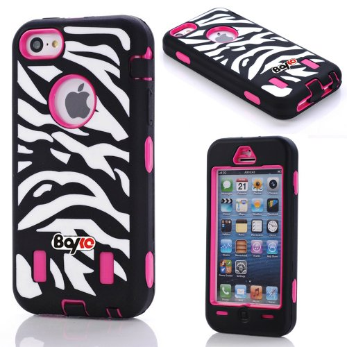 Apple Iphone 5c Fashion Camo Zebra Combo Print & Aztec Tribal Print Hybrid Armorbox Defender Case Protection Impact Bumper Dual Layer Heavy Duty Case Pc&rubber Silicone Material with Hard Holster (Not Fit Iphone 5 & 5s / Bayke Brand / Screen Protector Not Include) (Zebra Combo Print) at Amazon.com