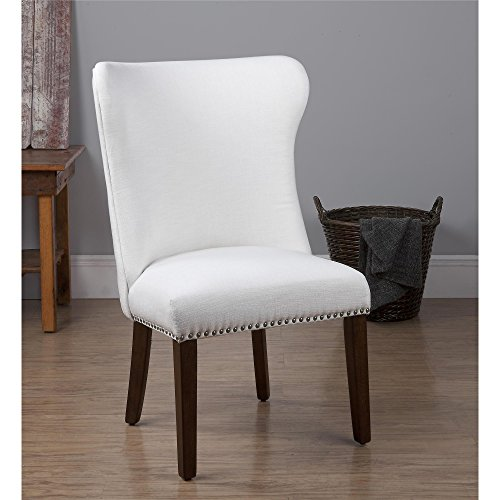 Dorel living bailey upholstered nailhead dining room chair white furniture chairs kitchen chairs - Nailhead dining room chairs ...