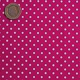 Cerise Pink 3mm Polka Dot Fabric 1 Metre 100 % Cotton Spotty.