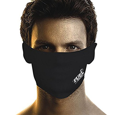 FUEL Pollution Face Mask (Valcro) For Bikers/Cyclist XL Size- Black (Set Of 10)