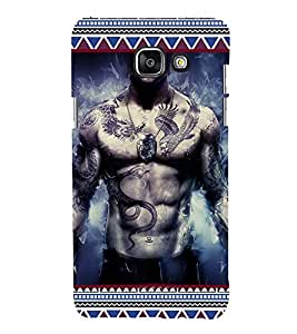 iFasho tatoo man six pack Back Case Cover for Samsung Galaxy A7 A710 (2016 Edition)