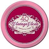 Creative Converting 8 Count Vintage Vixen 40th Birthday Round Dessert Plates