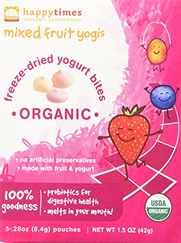 Happy Baby happytimes Mixed Fruit Yogis 5 Pouches- 0.28oz - 1