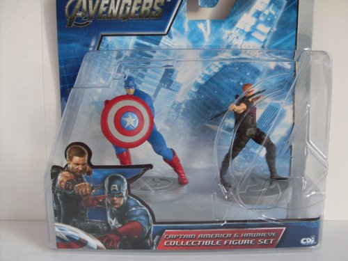 Marvel Avengers - Captain America & Hawkeye 2-Pack Collectible Figure Set - 1