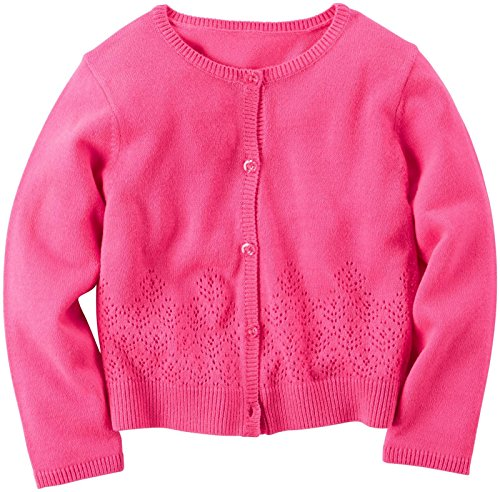 Carter's Sweater Cardigan 253g250, Bright Pink, 5T