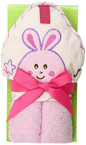 Kidiway Hooded Towel, Pink Rabbit