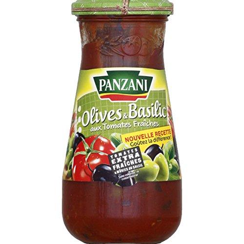 Panzani - Sauce tomate olives & basilic, aux tomates fraîches - Le pot de 400g - (pour la quantité plus que 1 nous vous remboursons le port supplémentaire)