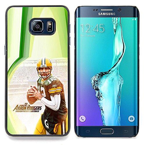 Aaron Rodger 12 NFL Custodia protettiva Progettato rigido in plastica King Case For Samsung Galaxy S6 Edge Plus