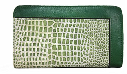 Roberto Capucci Donna Portafoglio in pelle/porta carte di credito lgd008 verde verde