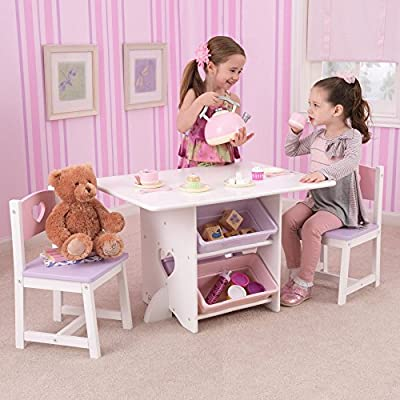 KidKraft Star Table and Chair Set with Primary Bins - 26912