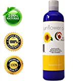 Pure Sunflower Seed Oil - Cold Pressed for Greatest Efficacy - Use on Hair, Skin & Body for Advanced Hydration - Vitamin E Rich - Great Essential Massage Oil Base - 4 Oz- USA Made By Maple Holistics