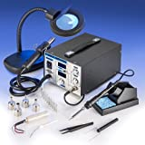 X-TRONIC XTR-4040-XTS Digital Hot Air Rework & Soldering Iron Station Bundle (5 Items) by X-TRONIC