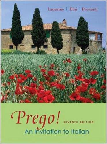 Prego! An Invitation to Italian (Prego Italian Book compare prices)