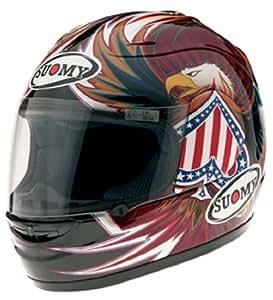 Suomy Spec-1R Old America Helmet (Black/Red/White/Blue, X-Large)