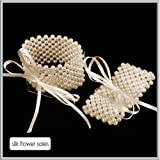 Large ivory Pearl Flower Bracelet for Corsages & Proms