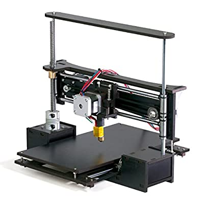 "TwoUp 3D Printer Kit with Heated Bed 7"" x 7"" x 5"" Build Dimensions 50 Micron 1.75mm PLA ABS Nylon Filament"