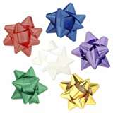 36pc Peel and Stick Holiday Gift Bow Assortment in 6 Bright Colors