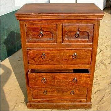Wood Storage 5 Drawers Dresser Chest Bedroom Furniture