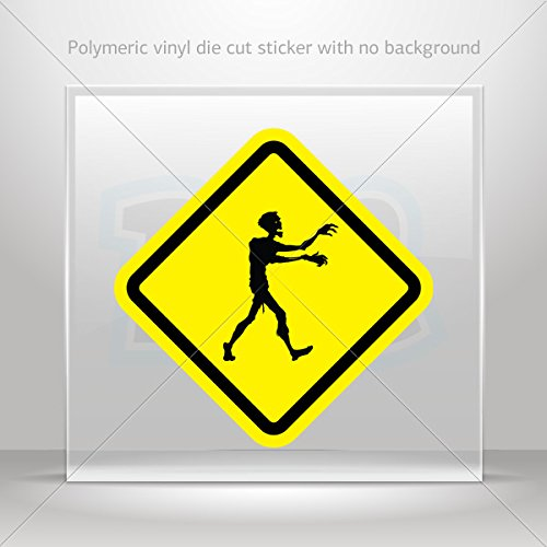 Decal Stickers Zombies Area Car door Hobbies Waterproof Racing Durable Racing (16 X 16 In)