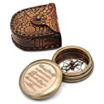 Go Confidently Thoreau's Stamped Quote Compass W/Stamped Mandala Design Case