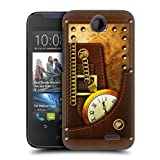 Head Case Designs Leather Steampunk Protective Snap-on Hard Back Case Cover for HTC Desire 310