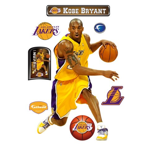 Kobe Bryant Los Angeles Lakers Wall Decal Fathead Wall Stickers & Murals autotags B0035HETFW