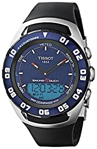 Tissot Men's T0564202704100 Sailing Touch Chronograph Watch With Black Rubber Band