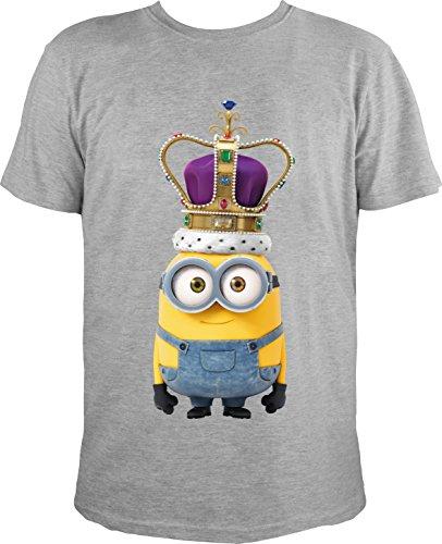 MINIONS-Camiseta-redondo-para-hombre-gris-large