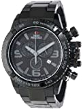 Swiss Precimax Men's SP13244 Forge Pro Black Dial with Black Stainless Steel Band Watch