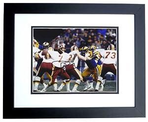 Joe Theismann Autographed Hand Signed Washington Redskins 8x10 Photo - BLACK CUSTOM... by Real Deal Memorabilia