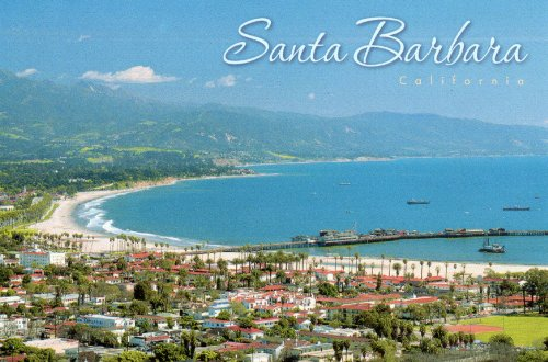 SBPC 57-11g SANTA BARBARA, CALIFORNIA Famous for its red tile roofs. .. POST CARD .. from Hibiscus Express