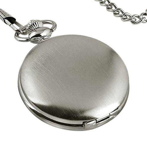 Dayan Full Hunter Design Quartz Movement White Case White Dial Arabic Numerals Chain Pocket Watch
