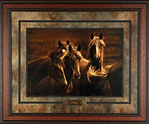 Bad Girls Tony Stromberg 35x29 Gallery Quality Framed Print Western Horse Picture PRIME Ship