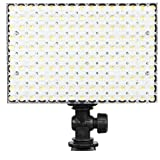 LEDGO 150 5600K Daylight Balanced 2250 Lumen On-Camera LED Panel Light: 95 CRI, Stepless Dimmer, Shoe Mount and Three (3) Piece Filter Kit included, Runs on optional Sony Panasonic or AA Batteries