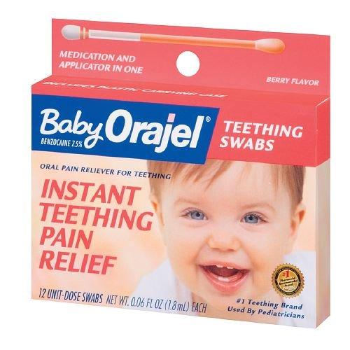 Baby Orajel Teething Swabs Berry 12 Ea Pack Of 6 Baby