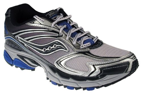 Saucony Men's Progrid Guide TR4 Trail Running Shoe,Silver/Black/Royal,9 M US