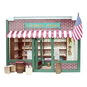 Dollhouse Miniature General Store Dollhouse by Real Good Toys