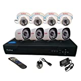ACTIVE 8 CH DOM-BULLET MIX CCTV CAMERA COMBO