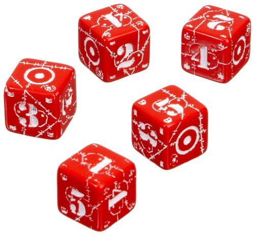Axis & Allis - United Kingdom Dice: Red/White (5) Board Game