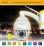 Wireless H.264 P2P Megapixel 720P PTZ Outdoor Waterproof IR Dome IP Camera AP004 with 5x Optical Zoom