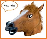 Holloween Decorations Props Creepy Adult Horse head latex Rubber Mask Costume Prop Novelty
