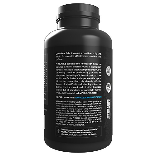 Legion-Phoenix-Caffeine-Free-Fat-Burner-Supplement-Best-Thermogenic-Weight-Loss-Pills-for-Men-Women-All-Natural-Metabolism-Booster-Appetite-Suppressant-Safe-Healthy-30-Servings