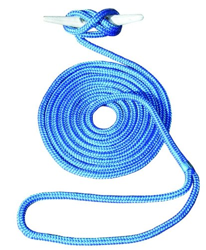 Invincible Marine 25-Foot Double Braid Nylon Dock Line, 1/2-Inch by 25-Feet, Blue Marine Grade Nylon Ropes