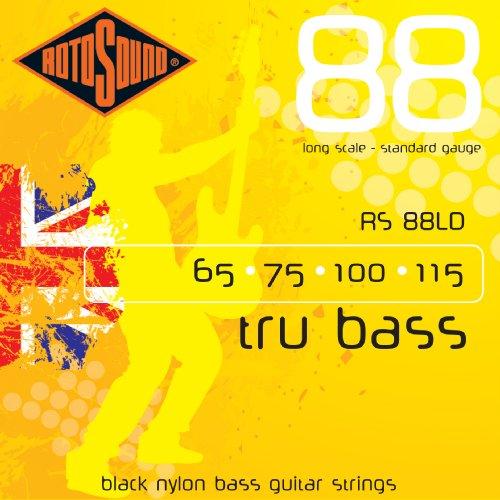Rotosound RS88LD Black Nylon Flatwound Bass Guitar