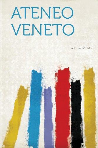 Ateneo Veneto Volume 125 No 1