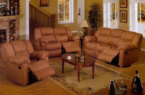 Brown Microfiber Living Room Set